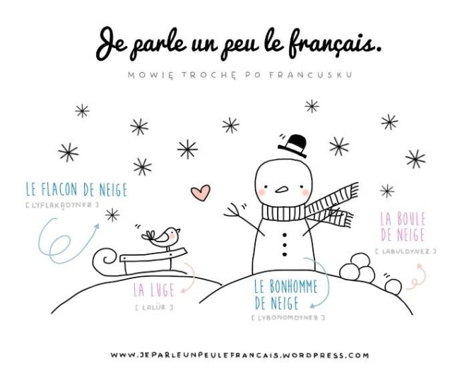 zimowe-slowka-francuski-zima-po-francusku-lepimy-balwana-bitwa-na-sniezki-sanki-sniezynka-pada-snieg