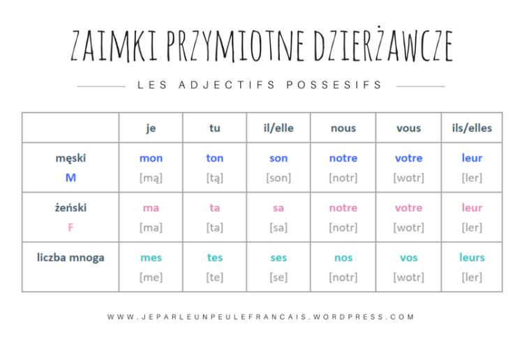 zaimek-przymiotny-dzierzawczy-francuski-zaimki-le-mien-la-mienne-les-miennes-nauka-francuskiego
