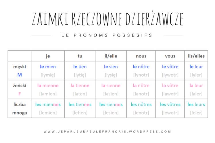zaimek-rzeczowny-dzierzawczy-francuski-zaimki-le-mien-la-mienne-les-miennes-nauka-francuskiego