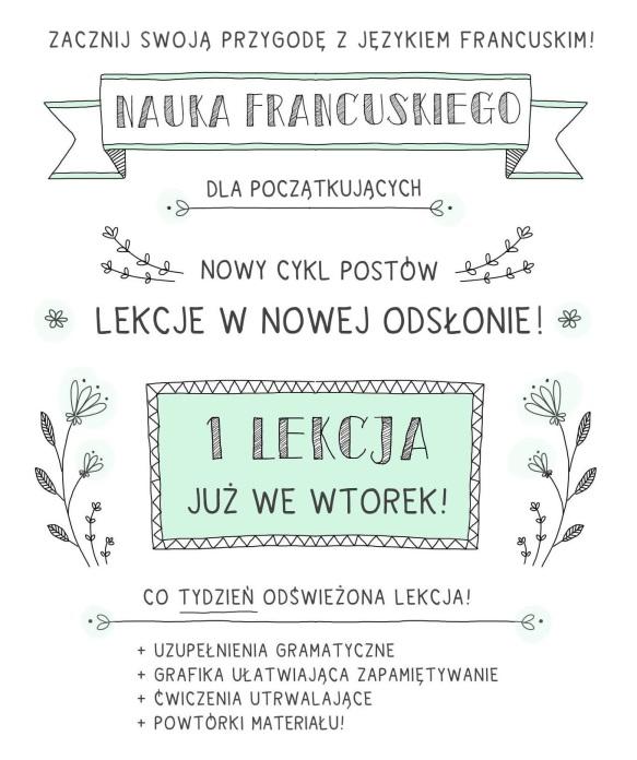 nauka francuskiego podstawy lekcja pierwsza dla początkujacych lekcja 1 kurs francukiego za darmo online francuskie notatki