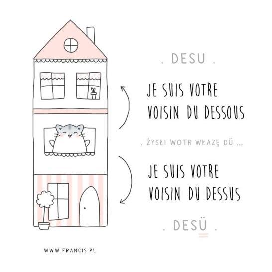 sąsiedzi z dołu z góry francuski dessous dessus voisin francis pl