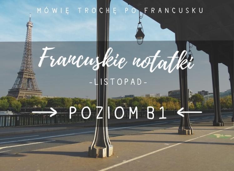 FRANCUSKIE NOTATKI LISTOPAD POZIOM b2